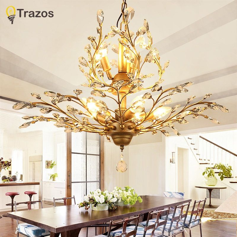 Modern Lustre Led Crystal Chandelier Lighting Ceiling Chandeliers Light Lamparas De Techo Hanglamp Suspension Luminaire Lampen