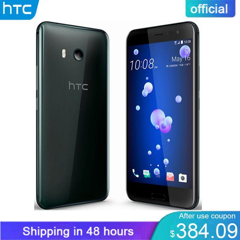 Official Original HTC U11 6GB RAM 128GB ROM Snapdragon 835 IP67 Waterproof Fingerprint 4G LTE 5.5 inch 16.0 MP Mobile Phone