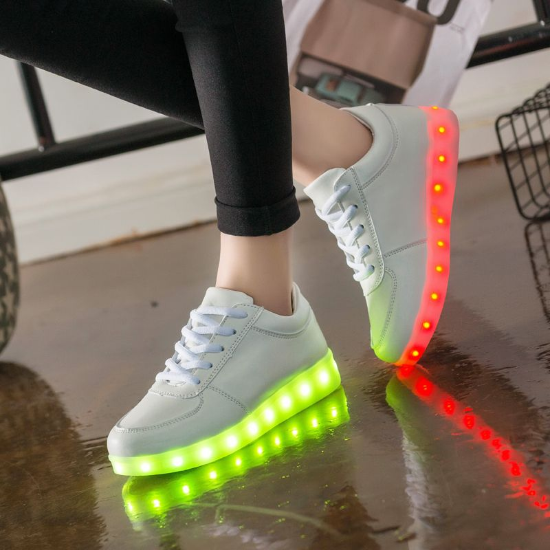 USB Charger Glowing Luminous Sneakers Feminino Baskets with Light Sole Children Led Slippers for Boy&Girl Light Up Shoes