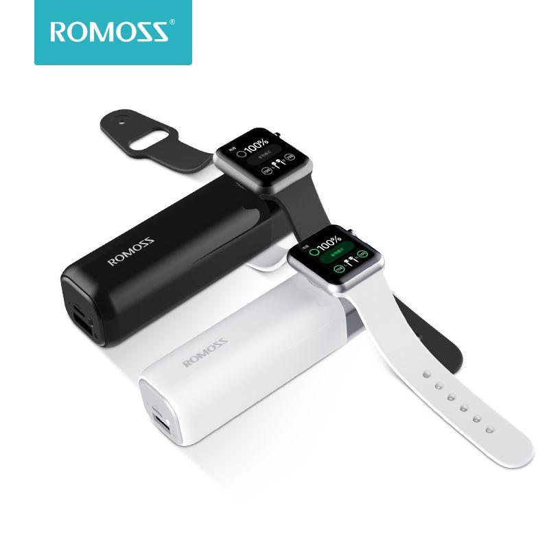Romoss iRoll 3250 mAh chargeur sans fil pour Apple Watch double Port 2A sortie batterie externe Portable pour iPhone X/8 Plus/8/7 Plus/7/6 P