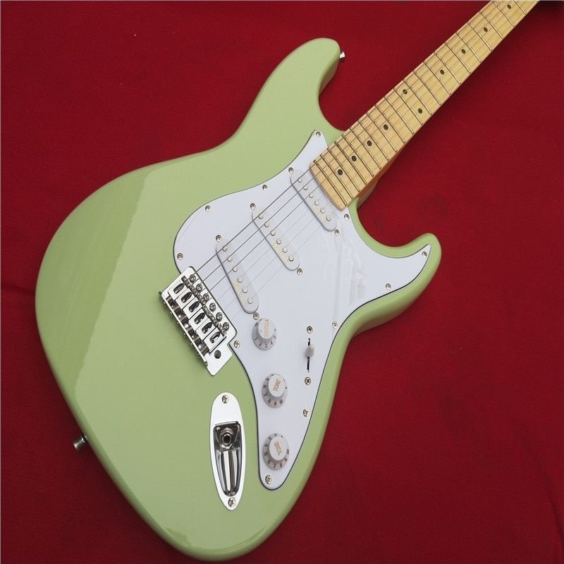 Electric guitar Wholesale KPOLE st custom shop electric guitar/oem brand sky blue color guitar/guitar in chin Real photo shows