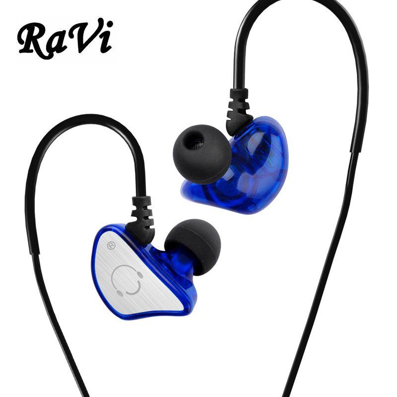 RAVI Sports casque de course dans l'oreille moniteur écouteur stéréo écouteurs Hifi casque casque avec micro fone de ouvido pour téléphone