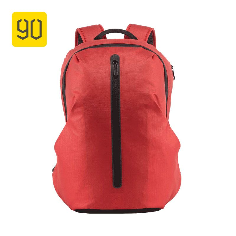 90FUN All Weather Functional Backpack Fashion Waterproof bag Travel College School Bussiness ,Black/Orange red