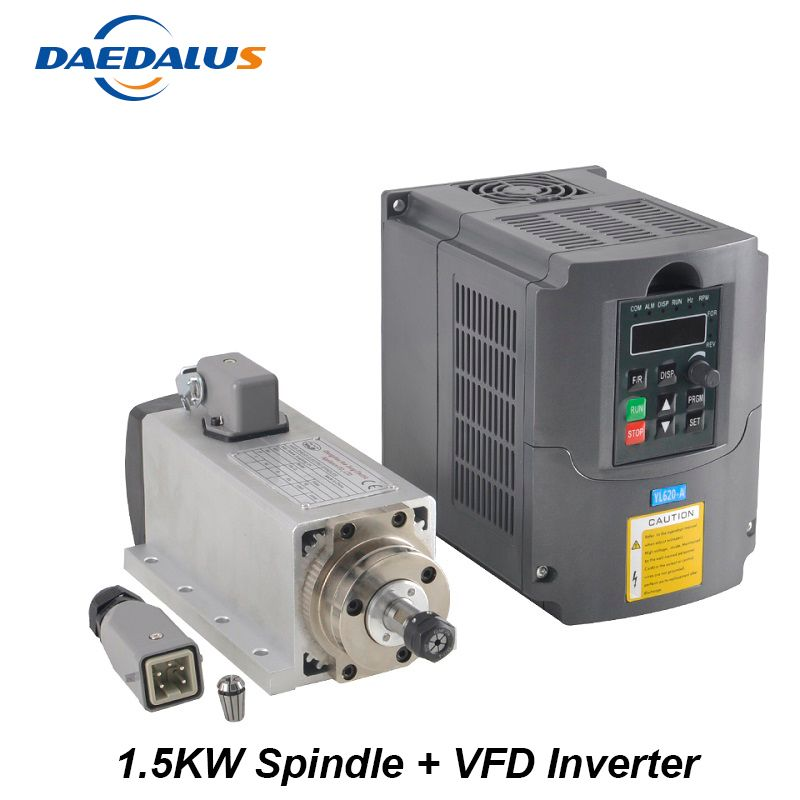 Spindle 1.5KW 110V 220V Motor CNC Spindle ER11 Router 1.5KW Converter Inverter VFD Inverter For Milling Engraving Tools