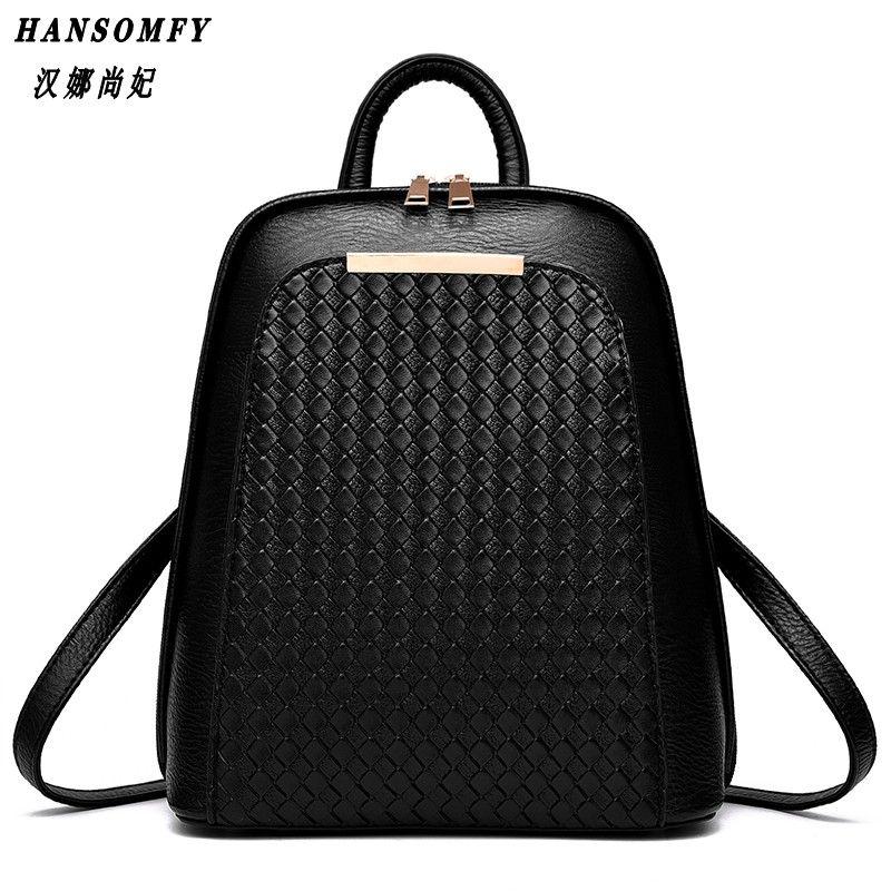Hnsf 100% натуральная кожа женщины рюкзак Новинка 2017 года прилив женский рюкзак Весна-осень Студенты Мода Повседневная Корейская женская сумка
