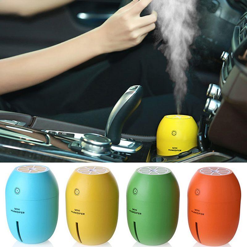 Ruijie voiture désodorisant voiture humidificateur s180ml citron ultrasons USB Portable DC avec lumière LED bureau maison purificateur d'air brumisateur