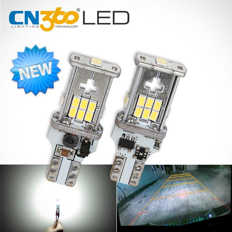 CN360 2 pièces nouvelle mise à niveau extrêmement lumineuse haute puissance Canbus SMD3020 912 921 T15 W16W voiture LED lumière de secours Auto ampoule de lampe inverse