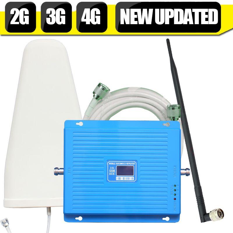 600 квадратные метры  2G 3G 4G 70dB усилитель сигнала сотовой связи GSM 900 DCS LTE 1800mhz WCDMA 2100mhz репитер 3G 4G LTE 1800 усилитель антенна задавать