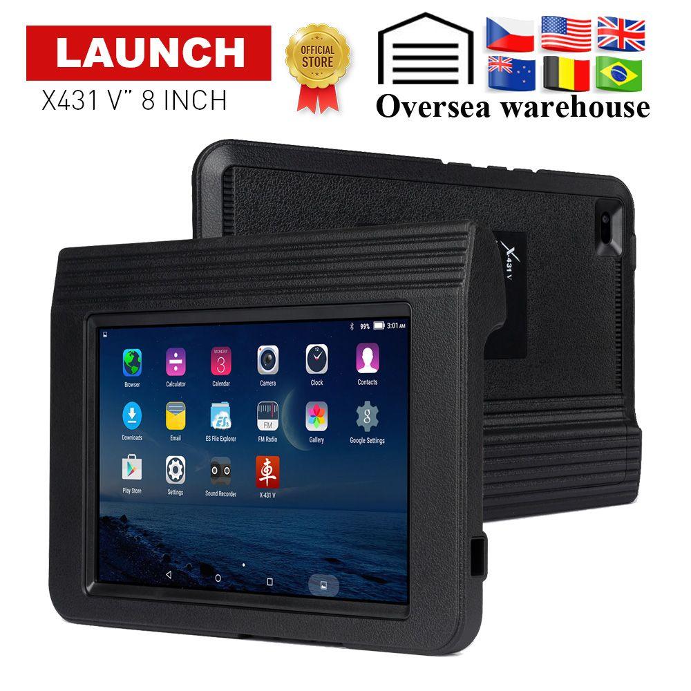 Starten X431 V 8 Volle System Auto Diagnose-Tool Unterstützung Bluetooth/Wifi 2 jahre update online OBD2 code reader X-431 V scanner