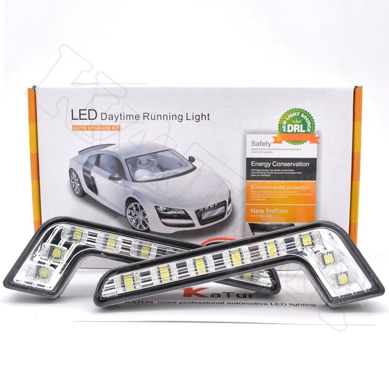 2pcs 8 LED Car Daytime Running Lights Led Fog Lamp Car External Light Xenon Lamp Driving Fog Light For Mercedes-Benz DRL Led