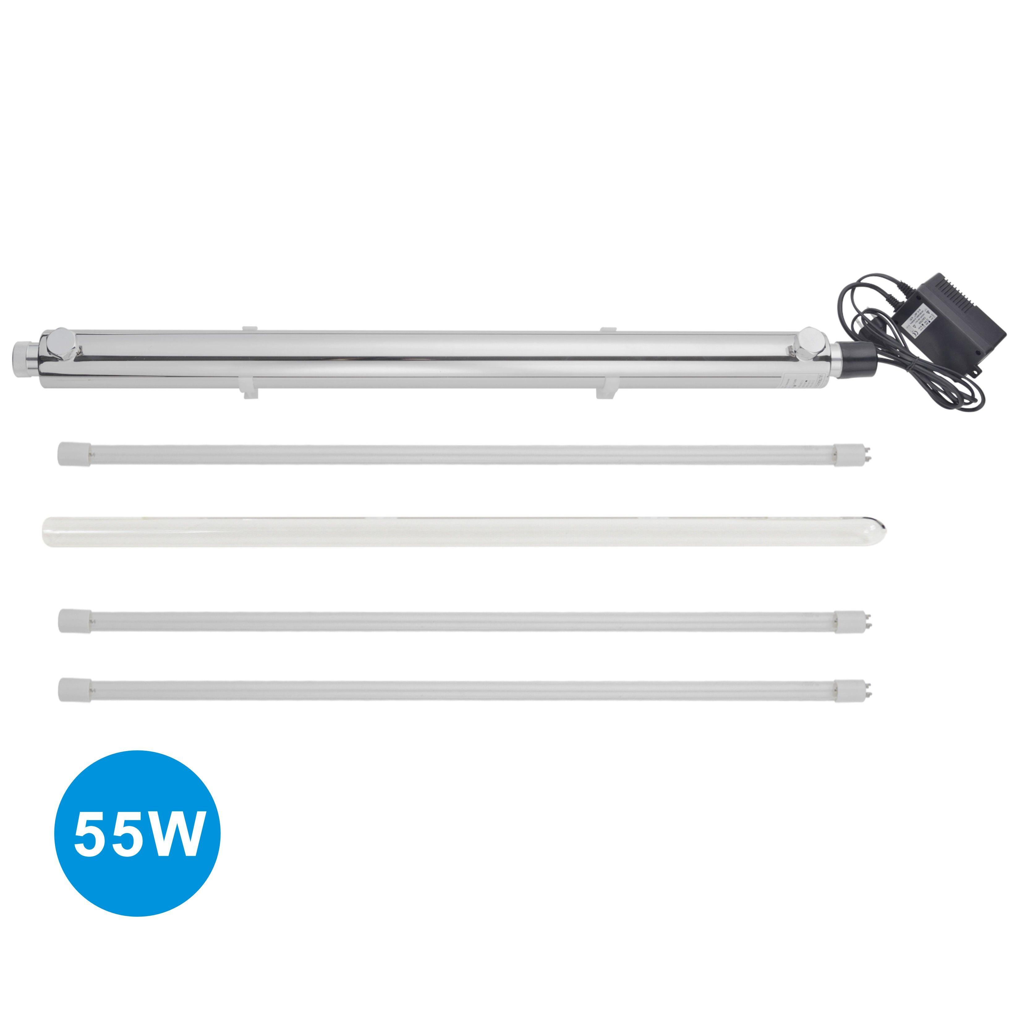55 W Uv Sterilisator Ganze Haus Wasser Reinigung-12GPM plus 2 stücke extra UV birne, power 200-240 V, Europa Zwei Pin Stecker