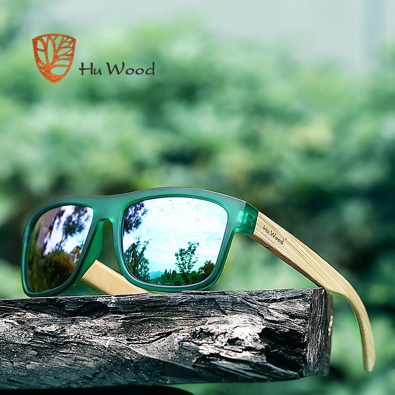 HU WOOD 2017 nouveauté mer dégradé nuances lunettes de soleil pour hommes bambou lunettes de soleil rouge UV400 lentilles de conduite de mode GR8010