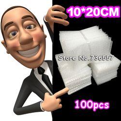 Nouveau 100x200mm Bubble Wrap Enveloppes Sacs Pochettes d'emballage PE Mailer Emballage paquet Livraison Gratuite