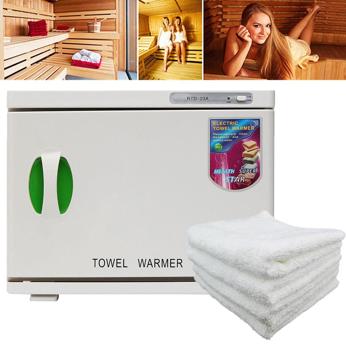Hot Facial Towel Warmer UV Sterilizer 23L 100-240V/AC Cabinet HDisinfection Beauty Salon Spa Heating Sterilizer Storage Towel