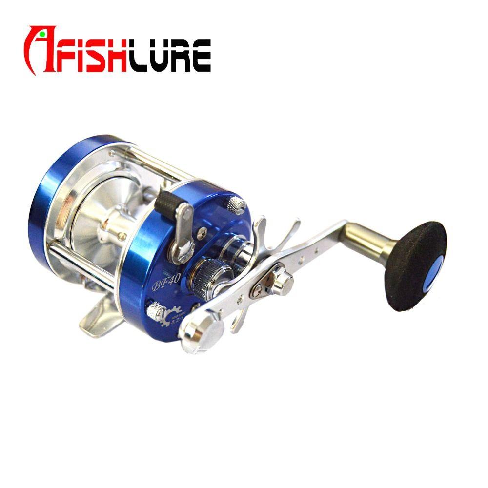 Moulinet de pêche rond en métal 6 + 1 roulement moulinet de pêche à la traîne en eau salée moulinet de pêche à la main droite bobine de pêche en mer Baitcasting