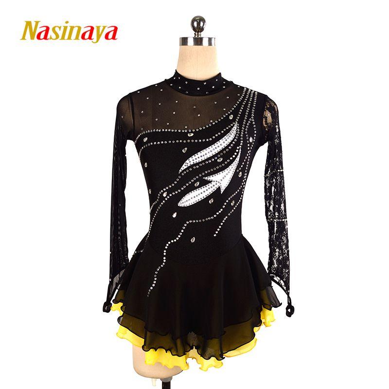 Nasinaya Figure Skating Dress Customized Competition Ice Skating Skirt for Girl Women Kids Patinaje Gymnastics Performance 102
