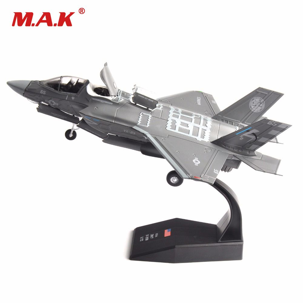 Cheap Toys for Children 1/72 USA 2017 F-35B Airplane Aircraft Model Toys Diecast Grey Color Alloy Camo Type