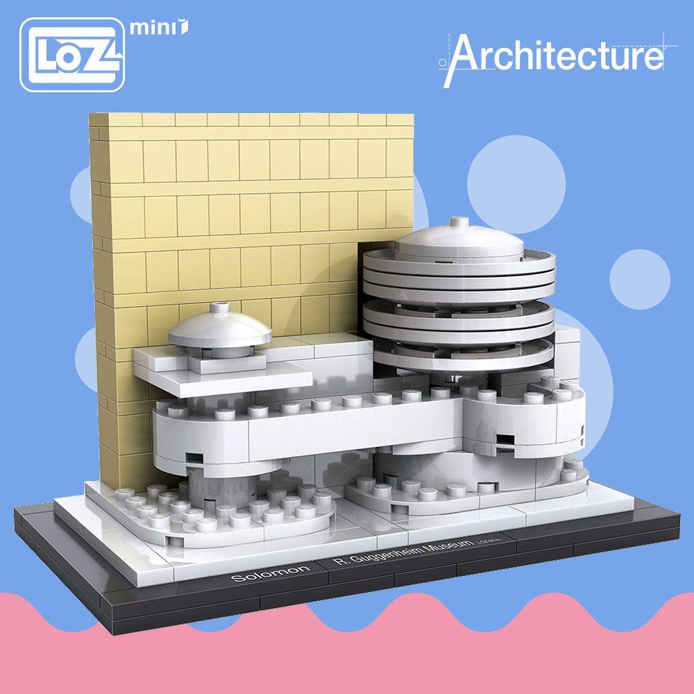 LOZ idées Mini Bloc Musée Guggenheim Monde Célèbre Architecture Série DIY Éducatifs Blocs Drôle Modèle Bircks Bâtiment 1005