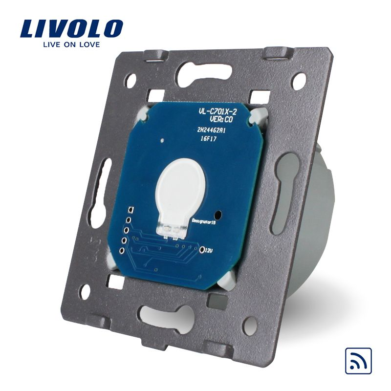 Livolo EU Standard Remote Switch Without <font><b>Glass</b></font> Panel, AC 220~250V Wall Light Remote&Touch Switch,VL-C701R