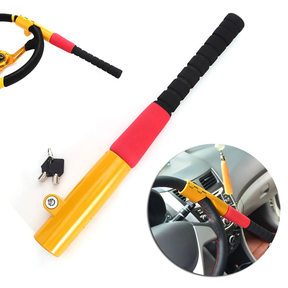 1Pcs Car Baseball Lock Steering Wheel Lock Auto Security Steering Wheel Lock Car Alarm Anti-theft Device Personal Safety New
