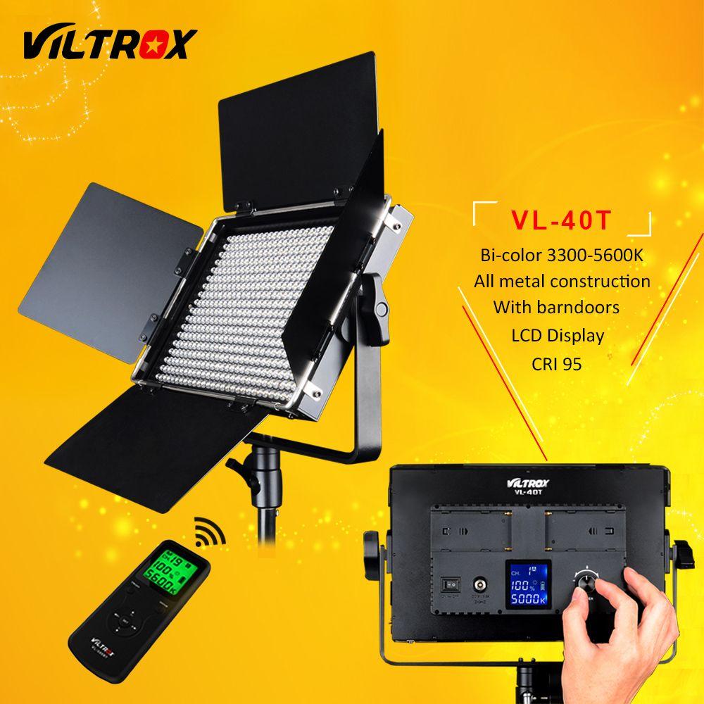 Viltrox VL-40T 540 LED Studio Video 3200K-5600K Slim Bicolor Dimmable LCD Light Lamp for Camera Camcorder