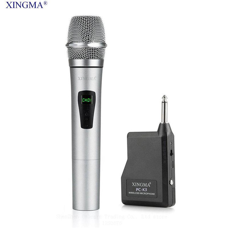 XINGMA PC-K3 Professionnel Sans Fil Microphone Dynamique Handheld Karaoke Mic Uhf Avec Récepteur Pour KTV chant Amplificateurs de Parole