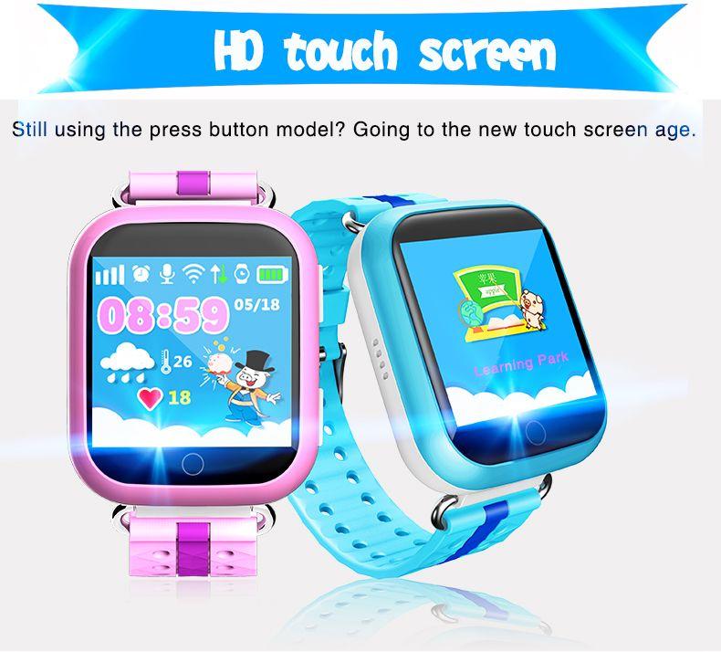 1 шт. Q100 дети Безопасный слежения GPS часы Сенсорный экран 1.54