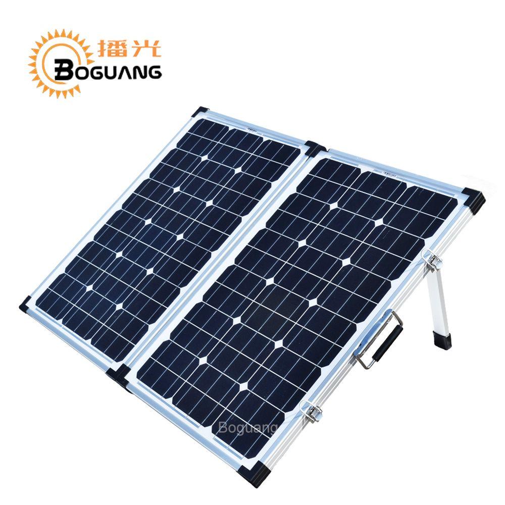 Boguang folding 120W(2Pcs x 60W) Foldable Solar Panel China 18V+10A 12V/24V Controller Panels Solar portable 100W System Charger