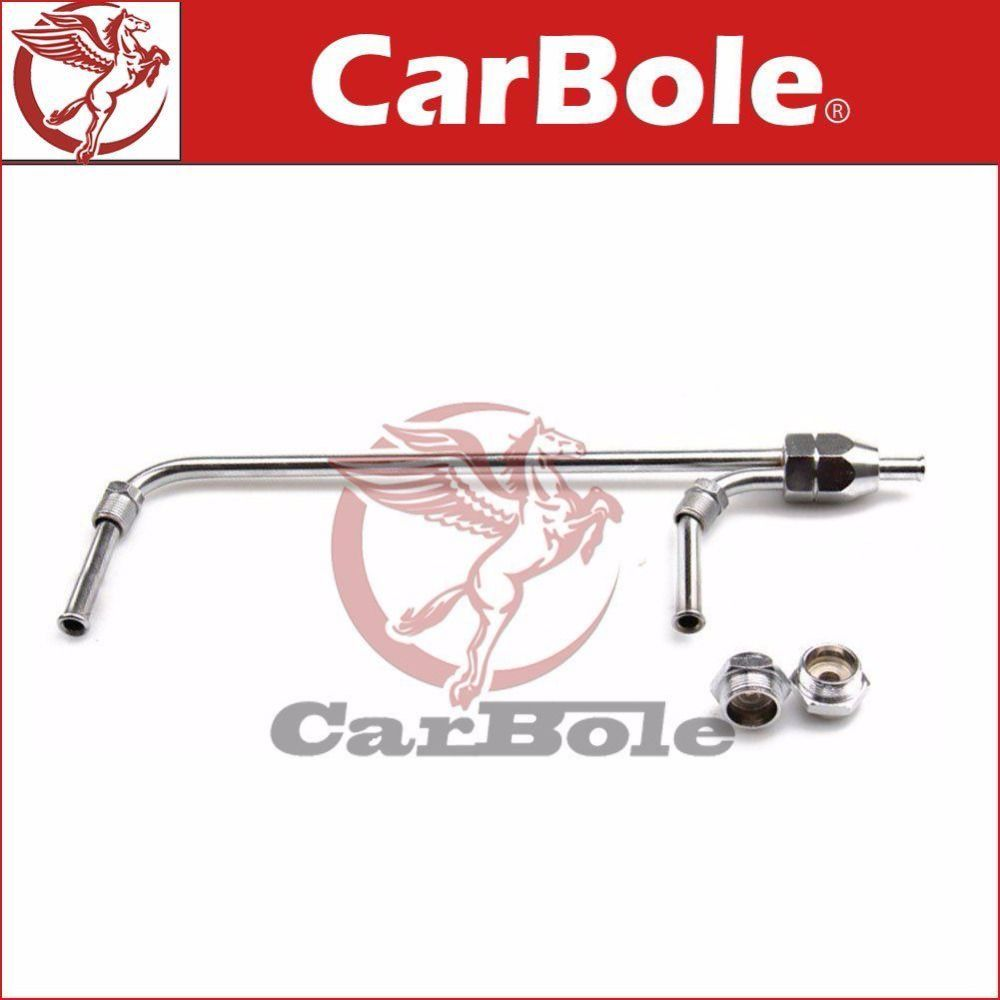 Universal Chrome Fuel Line Kit  for Holley 4-bbl. 3/8'' Tube 9-5/16'' Centres Fuel Line, Chrome, Steel, Holley, 4150, 3/8 in.