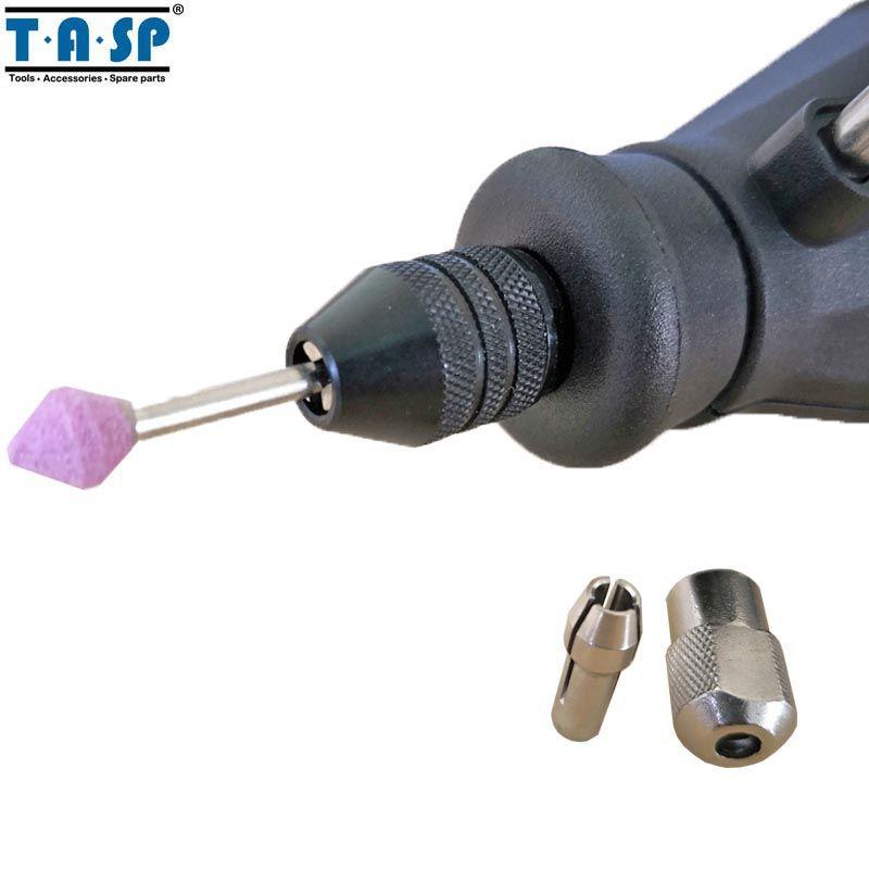 TASP Universel À 3 Mâchoires Sans Clé Mini Mandrin 0.5-3.2mm Pince Mini Perceuse Accessoires pour Outil Rotatif