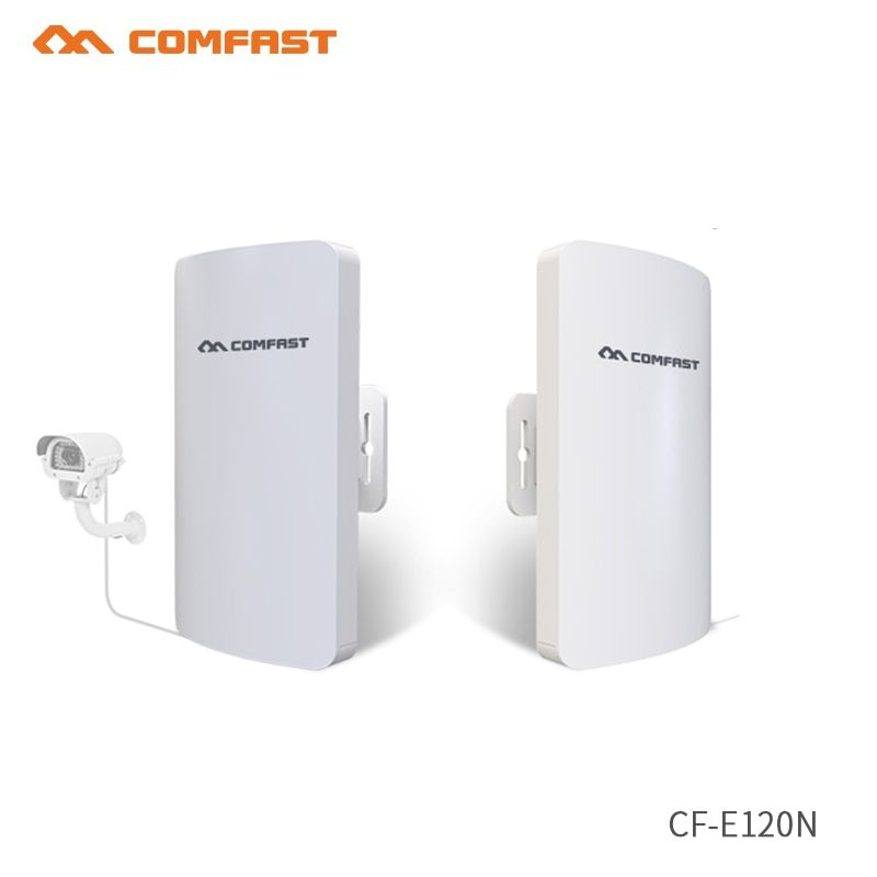 2pcs COMFAST 5.8Ghz Outdoor Wifi Router Receiver 2*14dBi Wi fi bridge Antenna signal amplifier CPE nanostation Router IP camera