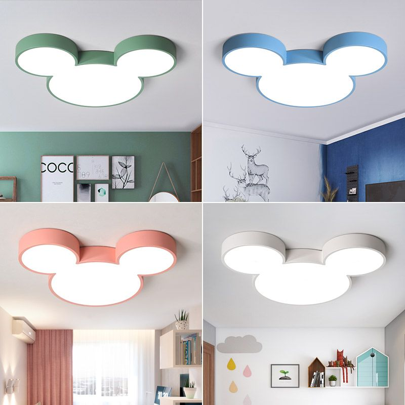 Nordic macaron lustre Mickey Modern Led Chandelier for Children Room Kid Room Deco chandelier lighting led lamp fixtures