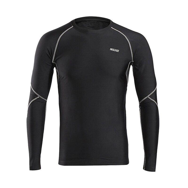 Breathable Warm Up Winter Running T Shirts Compression Tights Fitness Gym Training Jersey Running Yoga Bodybuilding Long Sleeve