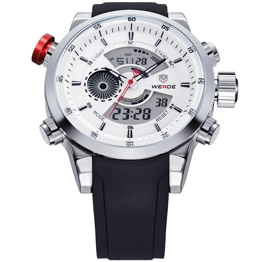 2017 Mens Watches WEIDE Top Brand Luxury Quartz Men Male Clock Digital LED Watch Military Sport Watch relogio masculino WH3401