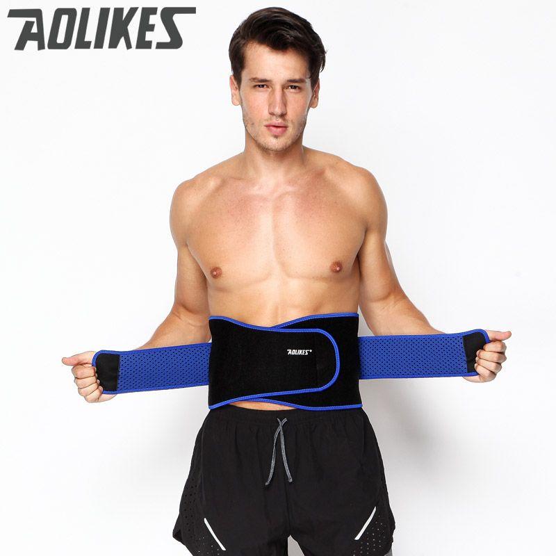 AOLIKES Breathable Sports Pressurized Back Waist Support Plus Size Elastic Fitness Bodybuilding Brace Weightlifting Belt