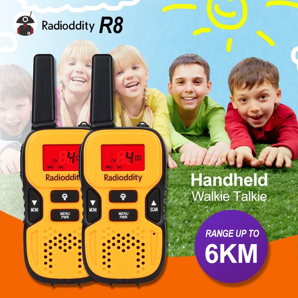 Radioddity 2pcs Mini Walkie Talkie Kids Children 0.5W UHF462.5625-467.7250Mhz GMRS/FRS Portable Ham Two Way Radio US Frequency