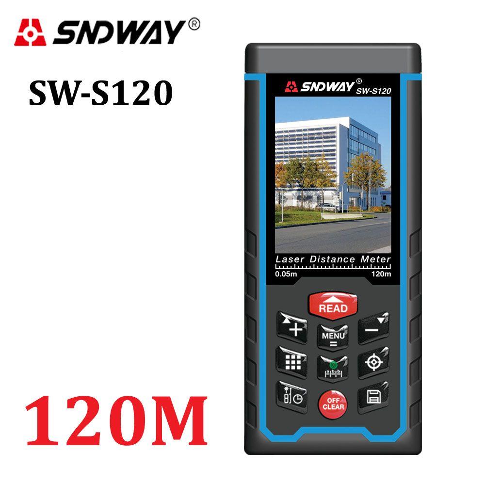 80M120M Laser <font><b>Distance</b></font> meter 400ft Handheld Range Finder tape Measuring Device Rangefinder W-TFT Lcd Camera rechargeable battery
