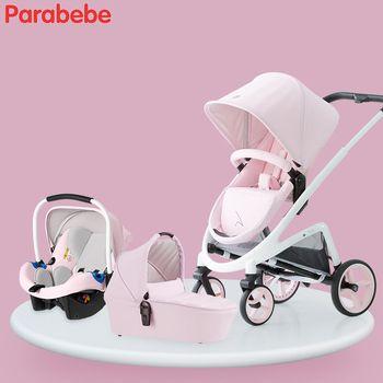 2018 Baby Kinderwagen 3 in 1 Travel System Kinderwagen Mit Stubenwagen Baby Pram Mit Infant Car Sitz Neugeborenen Kinderwagen klapp Kind