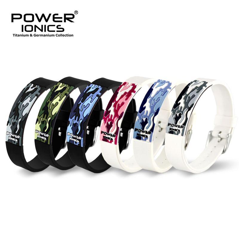Puissance Ionics titane Ion F.I.R 3D Camo Bracelet Balance Bracelet énergie PT048