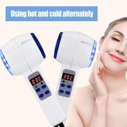 Perangkat Perawatan Wajah Seksi Cold Palu Cryotherapy Biru Foton Perawatan Jerawat Kulit Beauty Alat Pemijat Mengangkat Peremajaan Wajah Mesin