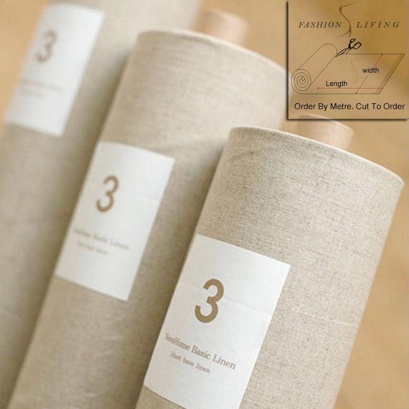 150cm Wide Vintage Pure Linen Fabric Antique White Grey Linen Fabric Smooth Linen Natural Linen Craft Fabric