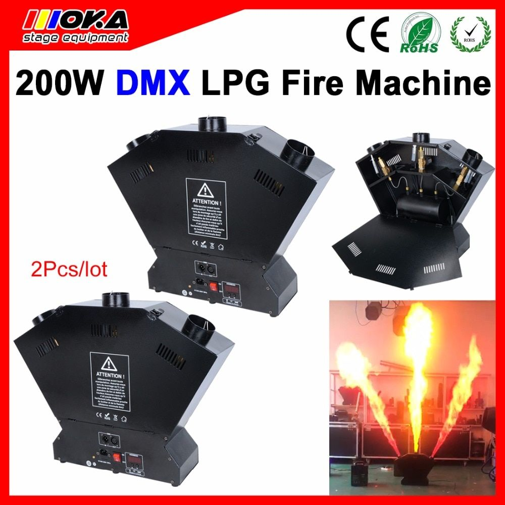 2 PCS/lot LPG Fire Machine for Stage special effect dmx flame machine professional 3 heads stage flame machine