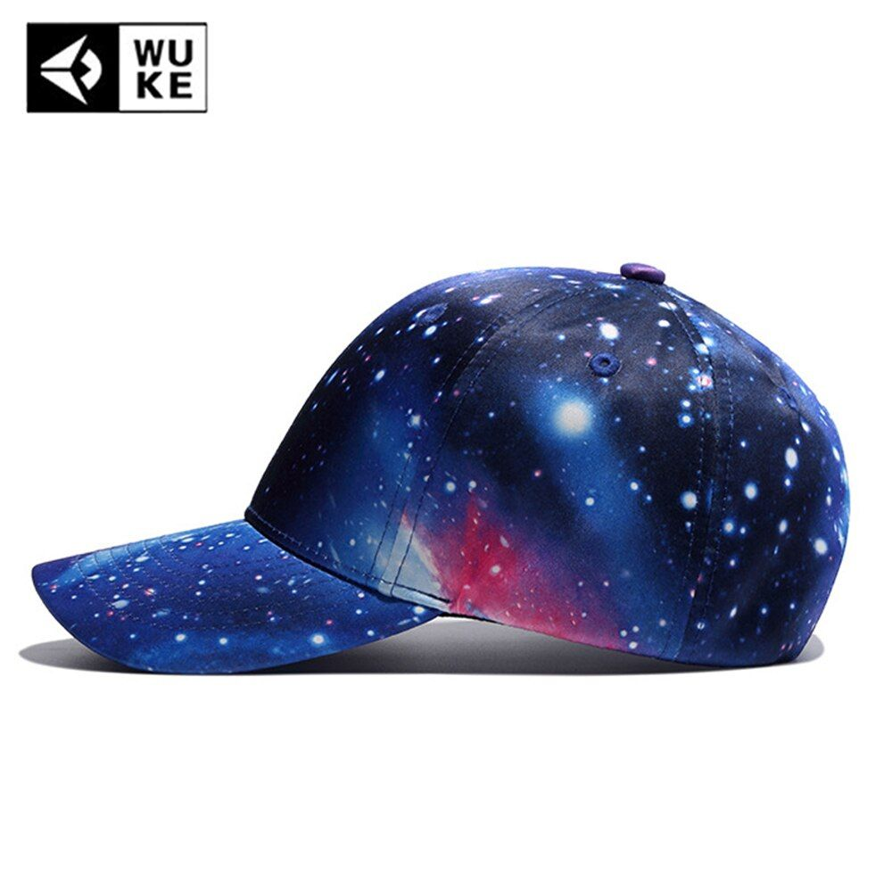 WUKE Universe 3D Printing Baseball Caps Spring Summer Hats Women Brand Bone Snapback Personality Printing Cotton Adjustable Hats