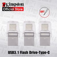 Kingston USB флешка DataTraveler Micro Duo 3C 64 ГБ 32 ГБ 16 Гб USB 3,1 для ПК телефон с портом type-C