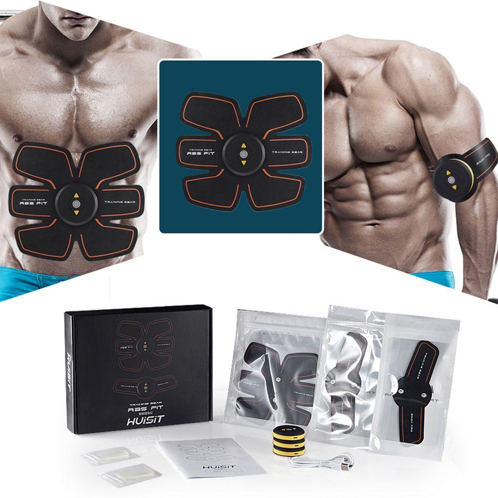 Rechargeable Muscle Training Stimulator Device Slimming EMS Belt Gym Professional Massage Abdominal Unisex Fitness Ab Toner Gear