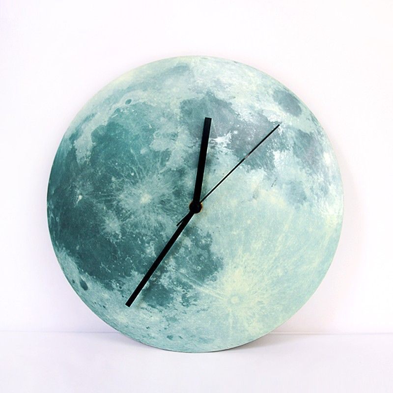 Home <font><b>Decor</b></font> 3D Wall Clocks Modern Design Earth Clock Living Room Moon Clock Birthday Gift Bedroom <font><b>Decoration</b></font> Orologio Parete