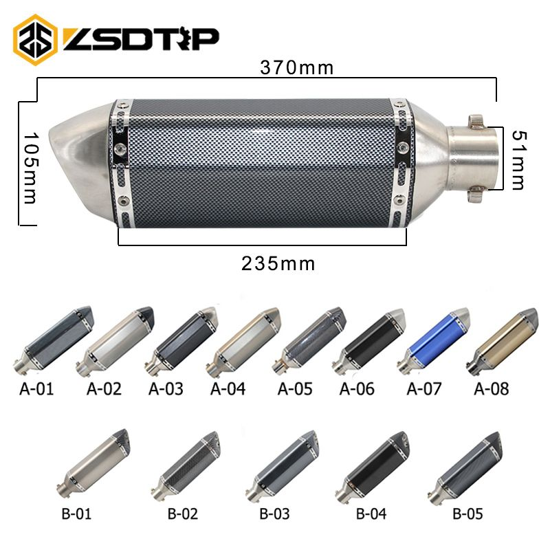 ZSDTRP Universal Motorcycle dirt bike exhaust escape Modified Scooter akrapovic Exhaust Muffle Fit for most motorcycle ATV