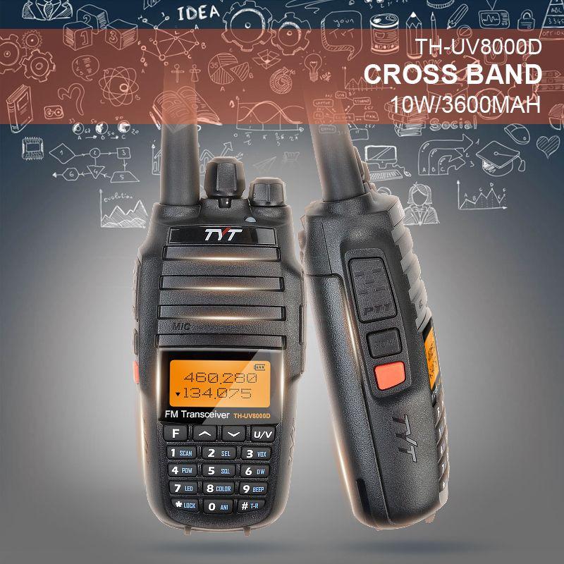 2018 Version 1803A Upgrade Version Powerful Long Range 10W Cross Band VHF UHF TYT TH-UV8000D Amateur Radio Transceiver