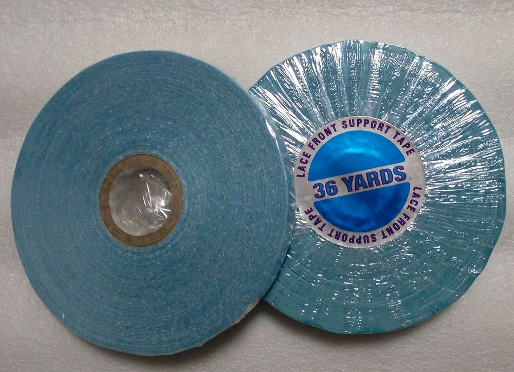 1 roll/Lot 0.8 cm wide 36 yards Blue Strong Adhesive Tape for lace wig and toupee Double side tape