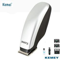 Kemei электрический триммер для стрижки волос Батарея работает Бритвы лезвия Для мужчин Дети волос бритвы Резка машины для стрижки